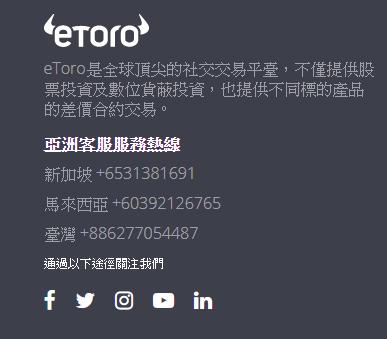 eToro客服