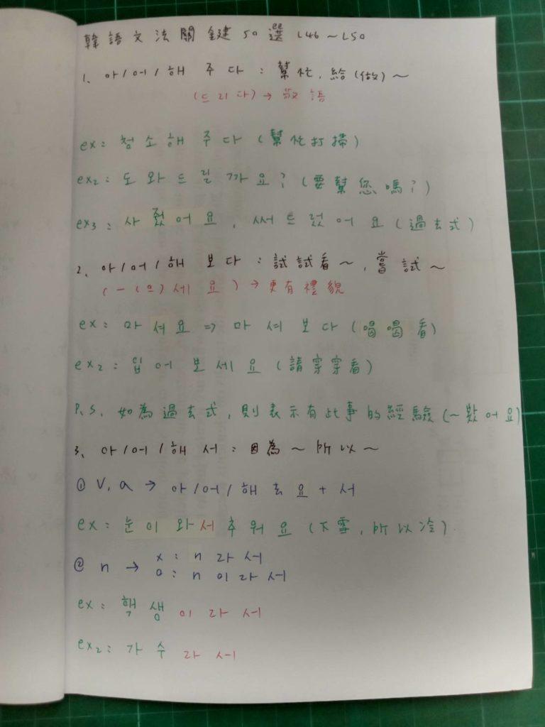 自學韓文-文法