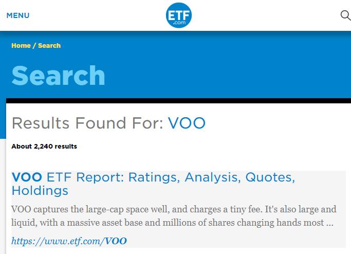 ETF.COM搜尋結果