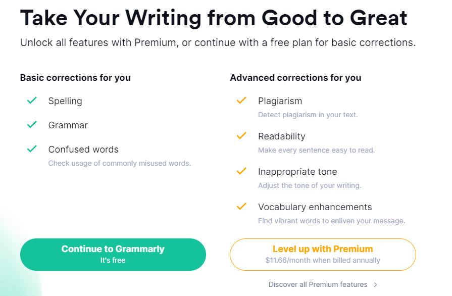 Grammarly註冊完成
