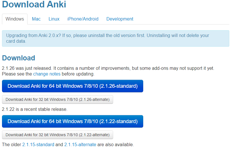 ANKI WINDOWS載點